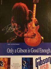 Slash, Guns N' Roses, Gibson Guitars, Full Page Vintage Promotional Ad, N