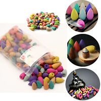 100pcs Bullet Backflow Incense Hollow Cone Mixed Flavor Smoke Tower Cones L8G4T