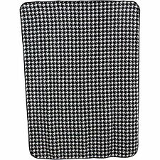 Houndstooth Print 63 x 86 Throw Blanket/Bedspread