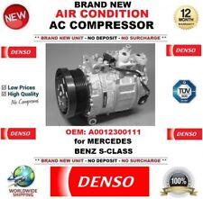 NUOVO DENSO AIR CONDIZIONE AC COMPRESSORE OEM: A0012300111 per MERCEDES BENZ CLASSE S