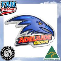 Fan Emblems Adelaide Crows 3D Chrome AFL Supporter Badge