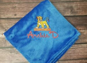 personalised bunny rug/baby wrap SIMBA OR NALA add a name for FREE lion king