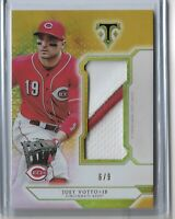 2018 Topps Triple Threads Baseball Jumbo Relic Patch Gold Joey Votto 6/9 Reds