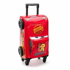 Official Disney Cars 3 Lightning McQueen Rolling Luggage Case Trolley w/ Handle
