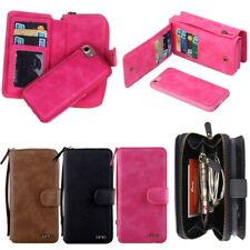 Phone Wallet Case Cover Card Holder Purse for Samsung Note 9  S10+ iPhone XS Max