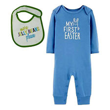 My First Easter Jumpsuit & More Jelly Beans Bib (3M) Easter Outfit