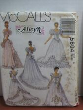 Vintage Misses Bridal Bridesmaid's Gowns Size 8 Sewing Pattern McCall's #5804