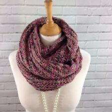 Womens Winter Infinity Snood Scarf Cowl Wrap Chunky Knit Brown Pink  Mix Gifts