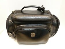Vintage Genuine leather camera bag has multipockets excellent condition