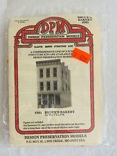DPM DESIGN PRESERVATION MODELS HO SCALE STRUCTURE KIT #501 BRUCE'S BAKERY