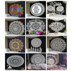 150*150cm Mandala Tapestry Indian Wall Hanging Bohemian Hippie Bedspread Cover