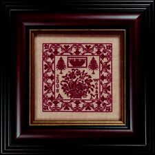 FLORAL MAGENTA-SPLENDOR XVIII-SAMPLER CROSS STITCH KIT--HEARTS CONTENT