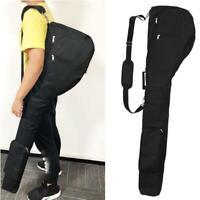 Mens Sunday Golf Club Bag Set Caddy Club Case Carry Bag Portable Black Orange
