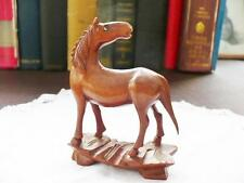 Vintage Oriental/Japanese Carved Wooden Pony - Fruitwood Carving