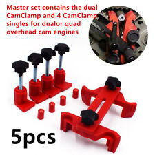 5xExcellent Dual Cam Clamp Camshaft Engine Timing Tool Sprocket Gear Locking Kit