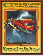 """12 1/2"""" X 16"""" KAHONEE BROTHERS AIR SERVICE METAL SIGN NEW"""