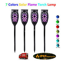 1pc LED Waterproof Solar Tiki Torch Light Dancing Flickering Flame Garden Lamp