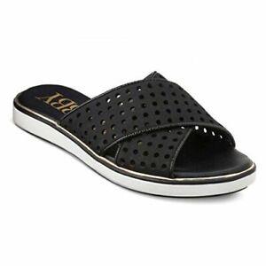 Women's Sam & Libby Jojo Slide Sandals - Black 7 - New Item