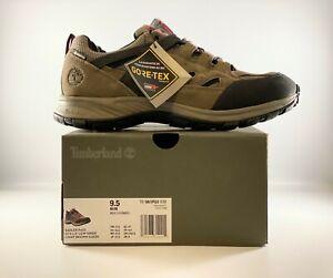 Timberland Sadler Pass GTX Gore-Tex Mens Hiker Boots Size 9.5 Light Brown Suede