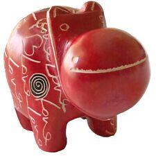 """Cute soapstone """"Love� Sculpture – Hippo"""