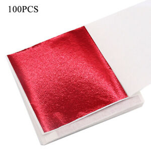 100 Sheets Foil Leaf Paper Imitation Gold Silver Copper Leaf Gilding Craft Art.