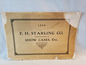 1909 F.H. Starling Store Business Display Cases Sales Brochure Must See No Res
