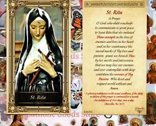 Saint St. Rita with Prayer to St Rita - Paperstock Holy Card
