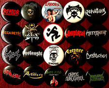 Thrash metal 20 buttons NEW pins badges Exodus Kreator Sodom DRI Over Kill Sadus
