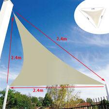 2.4m marquesina de Triangle Parasol Vela Resistente al Agua Patio del Toldo Jardín de bloque de UV