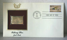 First Day of Issue Fishing Flies Jock Scott 22kt Gold Replica Stamp #40