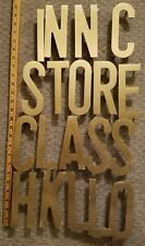 "19 Vintage Brass Sign Letters 6"" Business Architectural Salvage"