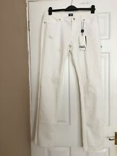 Dolce And Gabanna Ladies White Stretch Fit Cute Jeans Size 31 BNWT