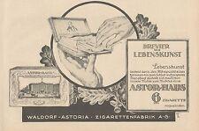 Y4680 Sigarette Astor-Haus - Waldorf Astoria - Pubblicità d'epoca - 1927 Old ad