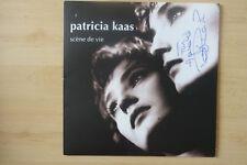 """Patricia KAAS autographe signed LP-Cover """"SCENE DE VIE"""" Vinyle"""