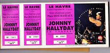 JOHNNY HALLYDAY TICKET BILLET PLACE DE CONCERT LE HAVRE RETIENS TA NUIT 1993