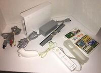 Nintendo Wii White Video Game Console (RVL-001) Bundle GameCube Compatible Box