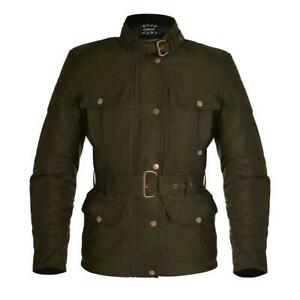 Oxford Ladies Bradwell Motorcycle Motorbike Vintage Waxed Jacket - Rifle Green
