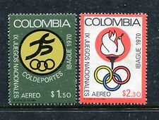 Colombia C527-C528, MNH, Emblem of Colombian Youth Sports Institute 1970. x23723