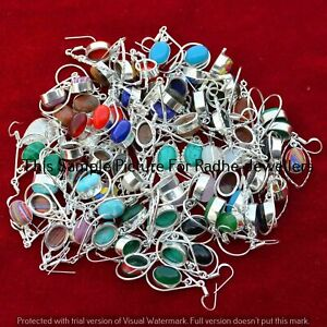 Turquoise & Mixed 50 pair Wholesale Lots 925 Silver Plated Earrings LE-14-243
