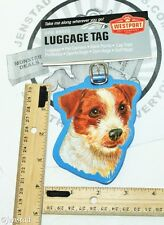 JACK RUSSELL TERRIER PET CO DOG BREED ID TAG FOR LUGGAGE CARRIER GYM BAG ETC NEW