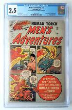 Men's Adventures #27 HUMAN TORCH 1954 Atlas CGC Superhero Vintage Comic RARE!