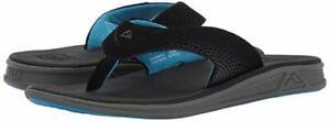 Man Reef Rover Flip Flop Sandal RF2295 Color Black/Blue 100% Original Brand New