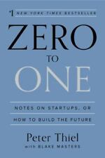 ZERO TO ONE - THIEL, PETER/ MASTERS, BLAKE - NEW HARDCOVER BOOK