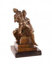Mann und Frau Aktmodell Bronze Statue Mann Frau nackt in Tücher gehüllt erotisch
