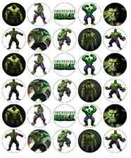 30 x HULK AVENGERS MARVEL decorazioni per cupcake wafer commestibile Carta Fata Cake Topper