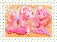 ❤️My Little Pony MLP G1 Vtg Fleecy & Woolly Baby Pony Lamb Pretty Pal Set 1988❤️