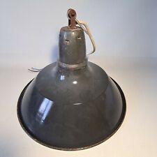 💡 ancienne lampe suspension industrielle tôle émaillée atelier, usine, loft