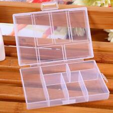 Portable 6-Compartment Plastic Storage Container Small Case Box Transparent New