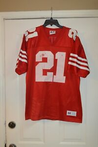 VTG LOGO ATHLETIC NFL FOOTBALL SAN FRANCISCO 49ERS #21 DEION SANDERS JERSEY L!