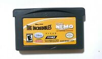 THE INCREDIBLES / FINDING NEMO Nintendo Gameboy Advance GBA CLEANED TESTED !